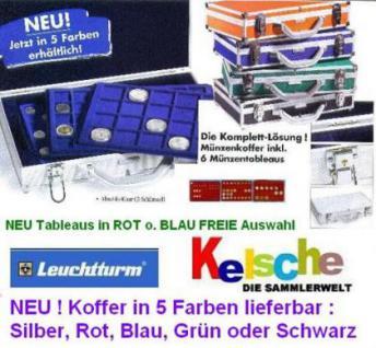 LEUCHTTURM ALU Münzkoffer KO3 NEU 4 FARBEN 6 Tabs -