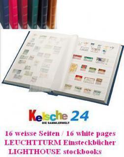 LEUCHTTURM Einsteckbuch L4/8 16 WEISSE SEIT. A4 SCH