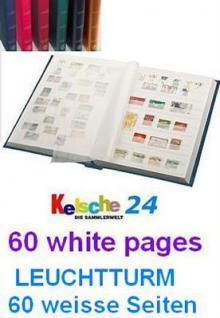 LEUCHTTURM Einsteckbücher 60 WEISSE SEITEN / BLAU N