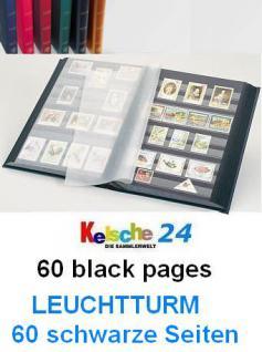 LEUCHTTURM Einsteckbücher 60 SCHWARZE SEITEN / BLAU