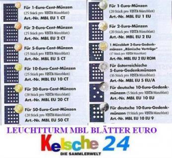 LEUCHTTURM 312494 VISTA Münzblätter 2 EURO Gedenkmünzen 2er Pack