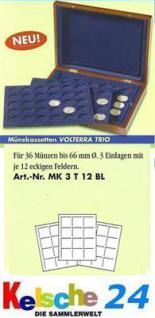 LEUCHTTURM Münzkassette VOLTERRA TRIO b. 66 mm MK3T