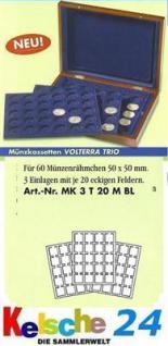 LEUCHTTURM Münzkassette VOLTERRA TRIO Münzrähmchen