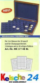 LEUCHTTURM Münzkassette VOLTERRA TRIO MK3T48 BL b 3