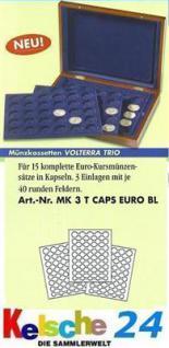 LEUCHTTURM Münzkassette VOLTERRA TRIO CAPS EURO KMS