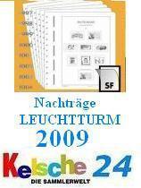 LEUCHTTURM SF Nachtrag 2009 Schweiz Zusammendrucke