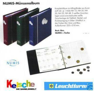 LEUCHTTURM Numis Münzalbum m. 5 Seiten alle Sorten