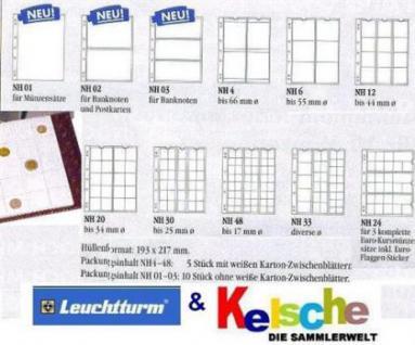 10 Numis Münzhüllen Leuchtturm NH48 je Blatt 48x 17