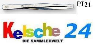 LEUCHTTURM Pinzetten 12cm Standard Gebogen Schmal P