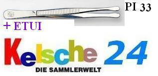 LEUCHTTURM Pinzetten 12 cm + Etui Gerade Breit PI3