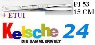 LEUCHTTURM Pinzetten 15 cm + Etui Gerade Breit PI5