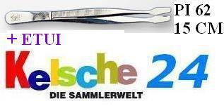 LEUCHTTURM Pinzetten 15cm + ETUI Gebogen Schaufel P - Vorschau
