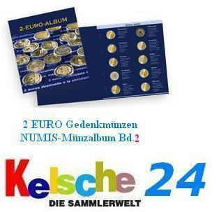LEUCHTTURM 341448 NUMIS 2 EURO Gedenkmünzen Band 3 bis 2013