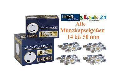 100 LINDNER Münzkapseln Münzenkapseln Coin Capsules alle Grössen Durchmesser 14 - 50 mm FREIE AUSWAHL