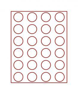 LINDNER 2760 MÜNZBOXEN Münzbox Rauchglas für 24 Münzen 41 mm Ø 1 Dollar US Eagle 50 FF - Vorschau 1