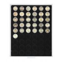 Lindner 2154C Münzbox Münzboxen Münzenboxen Schwarz für 2 Euro Münzen Gedenkmünzen