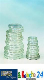 10 LINDNER Münzkapseln / Münzenkapseln Capsules Caps 42 mm 2250042P - Vorschau
