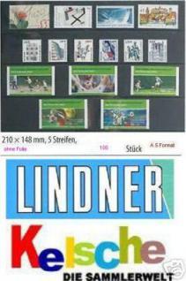 100 x A5 KOBRA VM5 Einsteckkarten Steckkarten Klemmkarten 5 Streifen ohne Schutzfolie für Briefmarken Banknoten