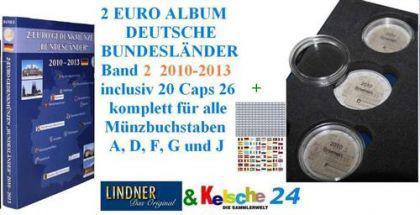 LINDNER 2 EURO MÜNZALBUM S1012 DT. LÄNDER 2010-13 B - Vorschau