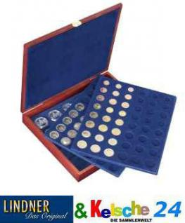 LINDNER Holzkass. LUXUS Euro-Kursmünzen-Sätze 2482B