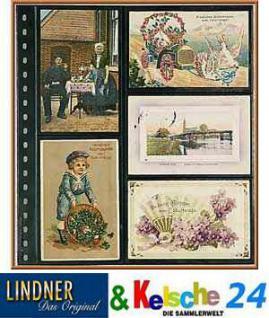 LINDNER 021 Postkartenblatt für 10 alte Karten