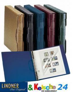 LINDNER 1124 - B - Ringbinder Regular mit 18 Ringmechanik & Kassette Blau Für Briefmarken & Banknoten & Posrtkarten