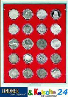 LINDNER MÜNZBOXEN Münzboxen 20 x 42 mm 5 Reichsmark 100 ÖS in Münzkapseln Rauchglas 2703