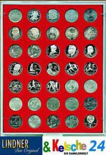 LINDNER MÜNZBOXEN Münzbox für 35 Münzen 31 mm Ø 1 Rubel - 10 Mark DDR Standard 2104
