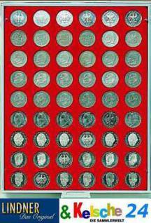 LINDNER Münzbox Münzboxen für 54 Münzen 26,75 mm Ø 2 DM Rauchglas 2709
