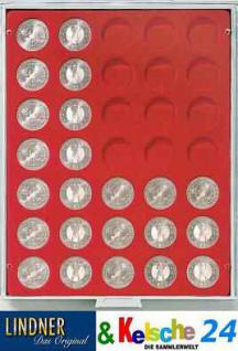 LINDNER 2111 MÜNZBOXEN Münzbox Standard Grau 35 x 32, 5 mm 10 & 20 EURO 10 DM 200 Euro Gold Münzen - Vorschau