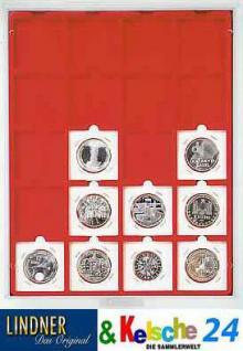LINDNER 2122 Münzboxen Münzbox Standard 20 x 50 mm Münzen Octos Carree Quadrum Münzkapseln Münzrähmchen