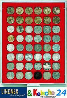 LINDNER Münzbox Münzboxen 48 x 30 mm Münzen quadratischen Vertiefungen 5 DM 5 Euro ÖS Rauchglas 2748 - Vorschau