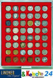 LINDNER Münzbox Münzboxen 48 x 28 mm Münzen quadratische Vertiefungen 100 Goldeuro Rauchglas 2749 - Vorschau