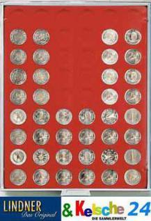 LINDNER 2754 R MÜNZBOXEN Münzbox Münzenboxen 54 x 25, 75 mm 2 EURO Münzen Rauchglas