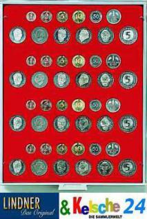 LINDNER Münzbox Münzboxen 4 DM Kursmünzen Sätze KMS Rauchglas 2604 - Vorschau