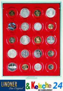 LINDNER Münzbox Münzboxen 20 x 46 mm 1 Unze Meaple Leaf Silber in Münzkapseln Rauchglas 2620