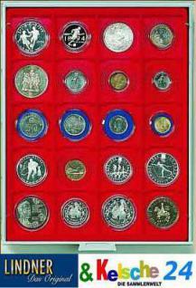 LINDNER Münzbox Münzboxen 20 x 51 mm Münzen 2 Unzen Kookaburra in org. Münzkapseln Rauchglas 2721