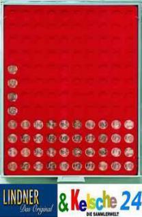 LINDNER Münzbox Münzboxen 1 EURO Cent / 1 Pfennig Rauchglas 2901