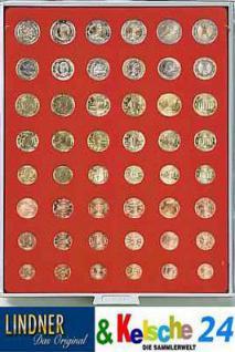 LINDNER Münzbox Münzboxen 6 komplette Euro Kursmünzensätze KMS 1 Cent - 2 Euromünzen Rauchglas 2906 - Vorschau