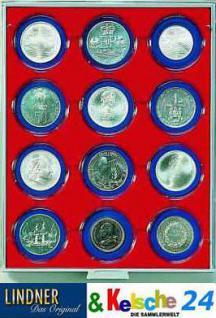 LINDNER Münzbox Münzboxen 12 x 63 mm Münzen in Münzkapseln Rauchglas 2912 - Vorschau