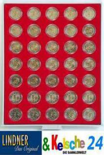 LINDNER 2530 Münzbox Münzenboxen Münzboxen 35x 32 mm 2 EURO 50 EURO Cent in Münzkapseln Standard
