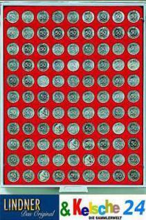 LINDNER MÜNZBOXEN 10 EURO-Cent/50 Pfennig Standard