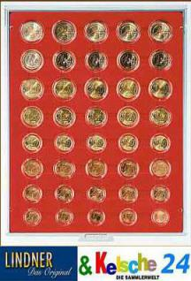 LINDNER 2556 Münzbox Münzboxen Standard 5 komplette Euromünzen Kursmünzensätze in Münzkapseln