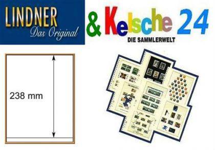 LINDNER T-Blanko-Blätter m. 1 Streifen 10er Pack 80