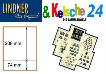 LINDNER T-Blanko-Blätter m. 2 Streifen 10er Pack 80