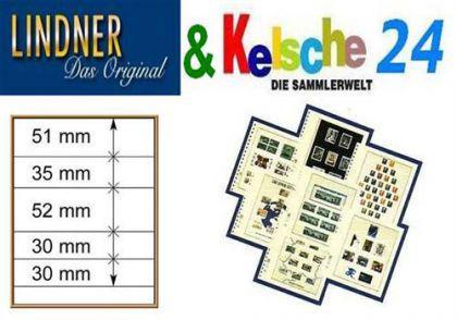 LINDNER T-Blanko-Blätter m. 5 Streifen 10er Pack 80 - Vorschau