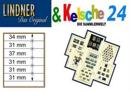 LINDNER T-Blanko-Blätter m. 6 Streifen 10er Pack 80
