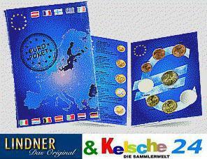 2 x LINDNER EURO-Taschenbuch 1Cent 2 € Kursmünzen - Vorschau