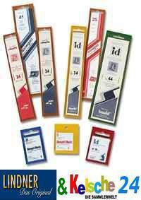 HAWID 5066 WEISSE Packung 10 Streifen SL 210 x 66d mm graue Klemmtaschen mit doppelter Klemmnaht