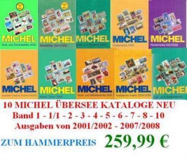MICHEL ÜBERSEE Band 1, 1/1, 2, 3, 4, 5, 6, 7, 8, 10 SET GÜNS - Vorschau